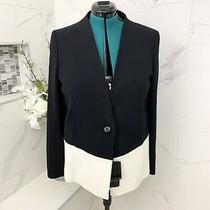Escada Authentic Blazer Color Block Black Size 42 (L) Nwt Retail 1500 Photo