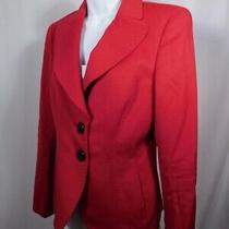 Escada Authentic Women's Red Cashmere Single Breasted Jacket Blazer Sz 36 Photo