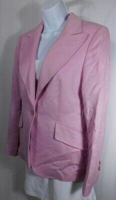 ESCADA Authentic Women's Soft Pink Single Breasted Jacket Blazer Sz 38 Photo