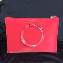 Escada Bag Red Plastic Ring Clear Plastic Handles Photo