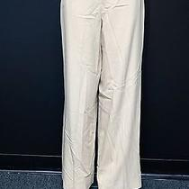 Escada Beige Pure New Wool Side Zip Wide Leg Lined Dress Pants Sz 38 13244 Photo