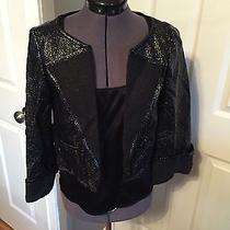 Escada Black Jacket With Black Undershirt- Size 34 Photo