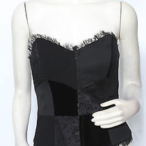 Escada Black Patchwork Bustier Corset Fitted Shirt Top Blouse Sz 12 Nwt 990 Photo