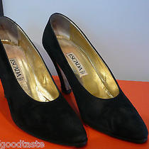 Escada Black Suede Heels Photo