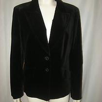 Escada Black Velvet Jacket Size 44 New No Tags Photo