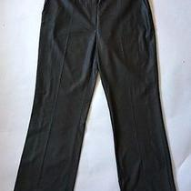 Escada Black Wool/silk Wide Leg Button Trimmed Pants Trousers Sz 42 (8us) New Photo