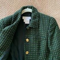 Escada Blazer Jacket Black Green Size 4 Photo