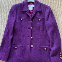 Escada Blazer Jacket Purple Size 4 Photo