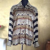 Escada  Blouse With Design Like Lace and See Through Sleeves 38 / 40 Photo