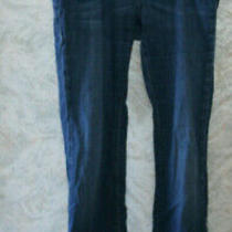 Escada Blue Cotton jeans.size 42.five pockets.front zipper.company name.italy. Photo