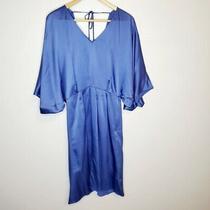 Escada Blue Silk Dress Photo