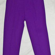 Escada Bright Deep Magenta Purple Smooth Wool Spandex Pants  Size 2 (36)  Euc Photo