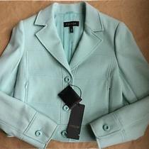 Escada Bronka Blazer Size 10 (Eu 40) New Ship Free Mint Green Wool Blend Jacket Photo