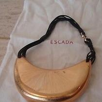 Escada Bronze Evening Purse Handbag Photo