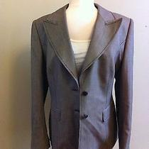 Escada Brown and Cream Fitted Blazer  Photo