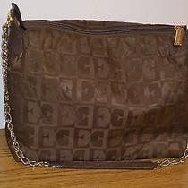 Escada Brown Monogram  Handbag  Photo