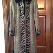 Escada Brown Tweed Dress and Jacket Rabbit Fur Photo