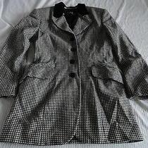 Escada by Magaretha Ley Wool/cashmere Black/white Checkered Blazer 34/4-6 Photo