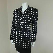 Escada by Margaretha Ley Blazer Jacket Black/white Polka Dot Women's Euc Size 8 Photo
