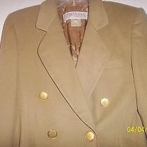 Escada by Margaretha Ley Wool Double Breasted Gold Button Blazer Sz 38 Sz 8 Photo