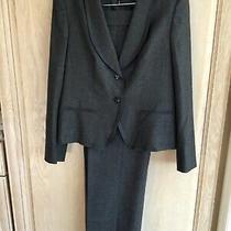 Escada Charcoal Gray Wool & Cashmere 2- Piece Pants & Blazer Jacket Suit Sz 10 Photo