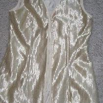 Escada Couture Holiday Vest Jacket Gold Metallic 38 Photo
