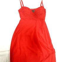 Escada Couture Red Color Pure Silk Dressvitagenew With Tagssize S-M Photo