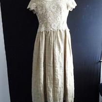Escada Couture Vintage Gown Dress Gold Lace Size 42 Formal   Photo