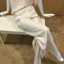 Escada Cream Ivory Dress Pants Size 46 16 Designer New Nwt Mint Stunning 850 Photo
