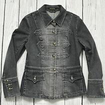 Escada Denim Jacket Jean Logo Button Size 40 Photo