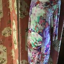 Escada Designer Dress Brand New Size 38/uk 10/12  Bold Pattern Stretch Fit Photo