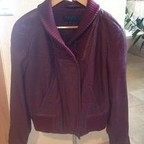 Escada Designer Leather Jacket Photo