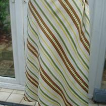 Escada Diagonal Stripe Silk Tie Waist Skirt  New One Size Photo