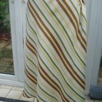 Escada Diagonal Stripe Silk Tie Waist Skirt  New One Size Photo