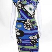 Escada Dress Size 36 (4-6 Us) New Abstract Print Short Sleeve Free Shipping Photo