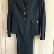 Escada Edition Charcoal Wool /cashmere 2- Piece Pants & Blazer Jacket Suit Sz 10 Photo