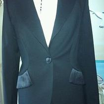 Escada Elegant Wool and Satin Black Jacket Euro Sz 40 (12) Brand new.great On. Photo