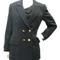 Escada Elements Women Black Blazer Jacket 100% Cashmere Double Breasted Size 38 Photo