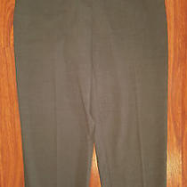 Escada Elements Womens Casual Dress Pants Size 36 (Usa Size 8) Brown Wool Blend Photo