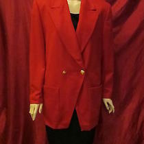 Escada for Neiman Marcus Red Wool Cashmere Patch Pocket Jacket/ Logo Lining/ 40 Photo