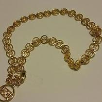 Escada Gold Belt Necklace Photo