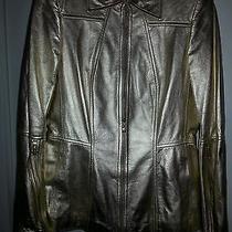 Escada Gold Leather Jacket Photo