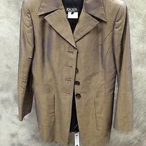 Escada Gold-Shot Purple Linen/cotton Jacket Ge 36/us 8 Photo