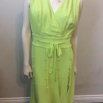 Escada Green Dress Sz 40 10/12 Photo