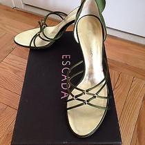 Escada Green Satin Shoes Photo