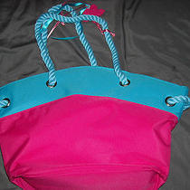 Escada Hand Bag Pink / Blue Make Up Bag Gift  Photo