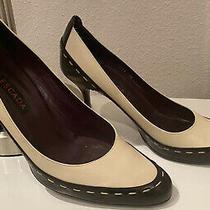 Escada Heels Sz 8/38 Black/beige Photo
