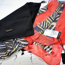 Escada Italy Women's Square Scarf Shawl Wrap Dust Bag 100% Silk Signature  Nwt Photo