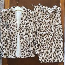 Escada Jacket and Dress Set Multi Color Leopard Print Size 40 Photo