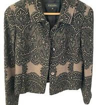 Escada Lace Blazer Jacket Wool Blend 36 Euro 6 Us Photo